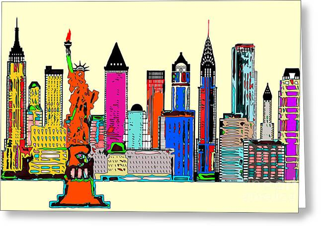 New York - The Big City Greeting Card