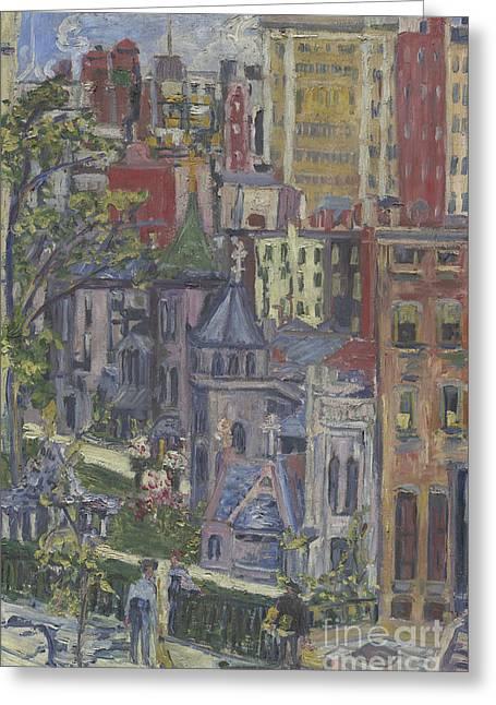 New York  The Little Church Around The Corner, 1920 Greeting Card by Dorothea Adelheid Dreier