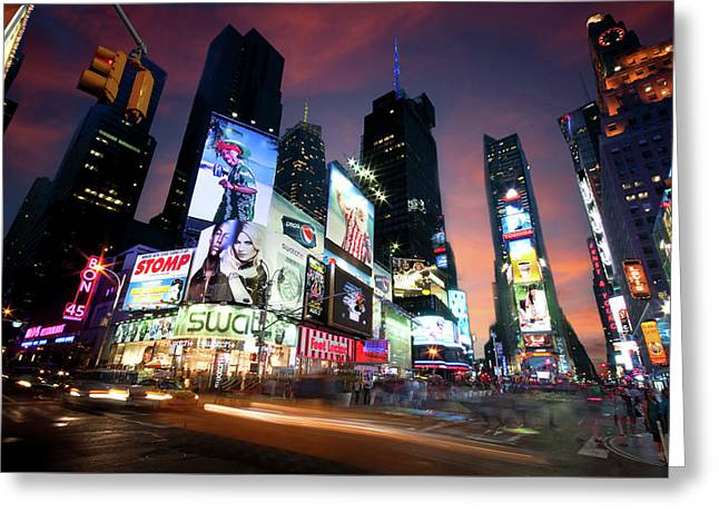 Greeting Card featuring the photograph New York Cityscape by Michalakis Ppalis