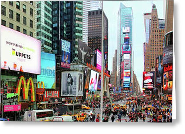 New York Times Square Panorama Greeting Card