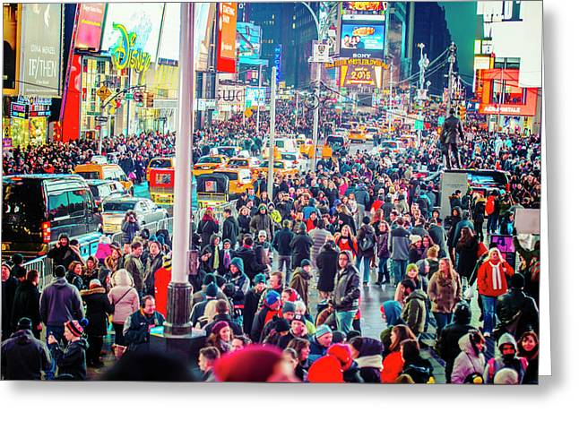New York Times Square Greeting Card