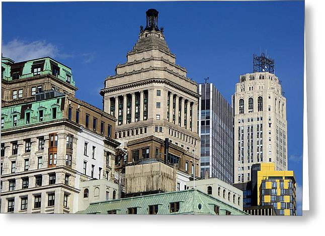 Old New York Architecture Greeting Card by Art America Gallery Peter Potter