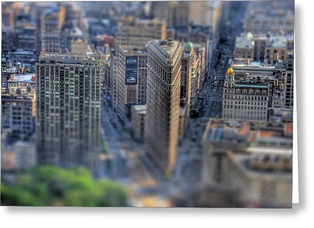 New York Toy Story - Flatiron Building Greeting Card