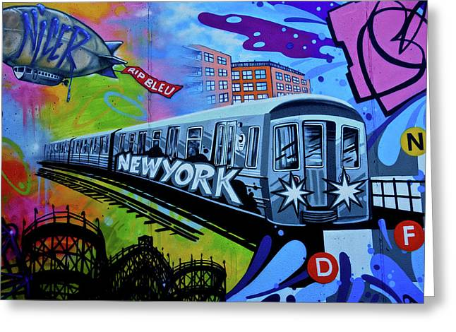 New York Train Greeting Card