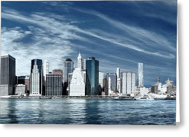New York Two Greeting Card by Melissa Smith