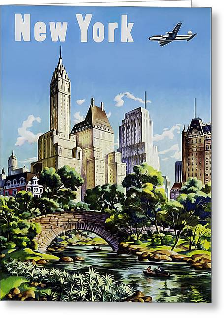 New York United Air Lines Greeting Card