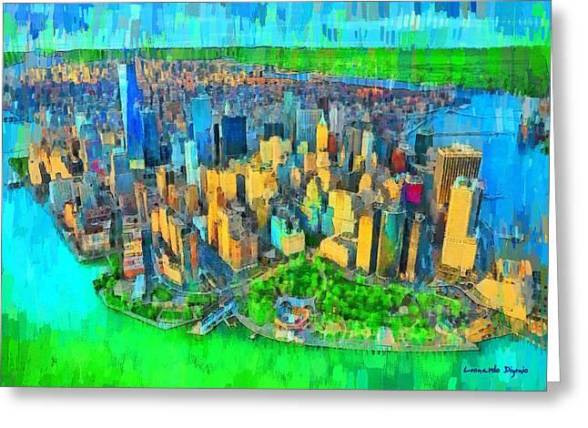 New York Vision - Da Greeting Card