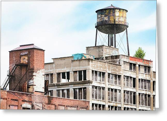 New York Water Towers 18 - Greenpoint Water Tower Greeting Card