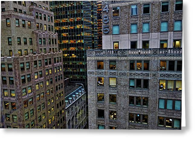 New York Windows Greeting Card