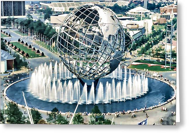New York World's Fair Greeting Card by Lanjee Chee