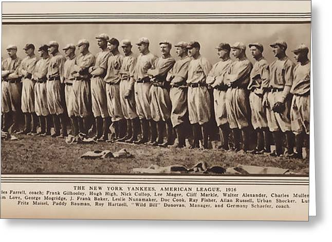 Greeting Card featuring the photograph New York Yankees 1916 by Daniel Hagerman