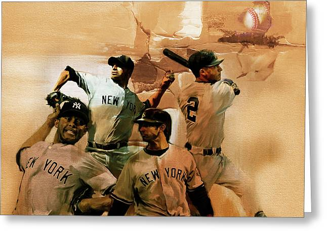 New York Yankees  Greeting Card by Gull G