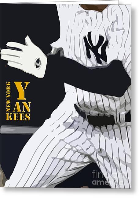 New York Yankees Runner Greeting Card