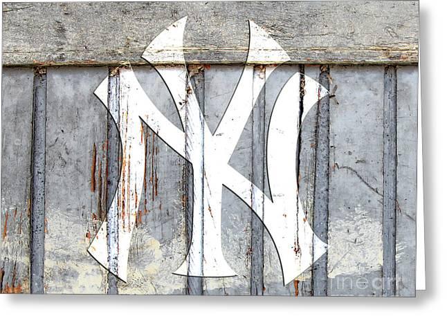 New York Yankees Rustic 2 Greeting Card