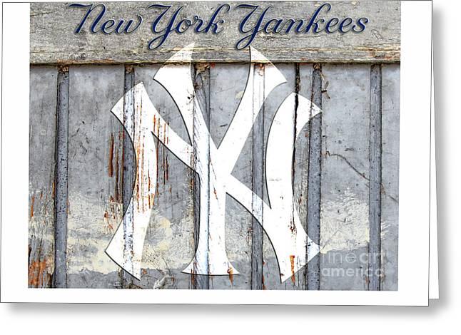 New York Yankees Rustic Greeting Card