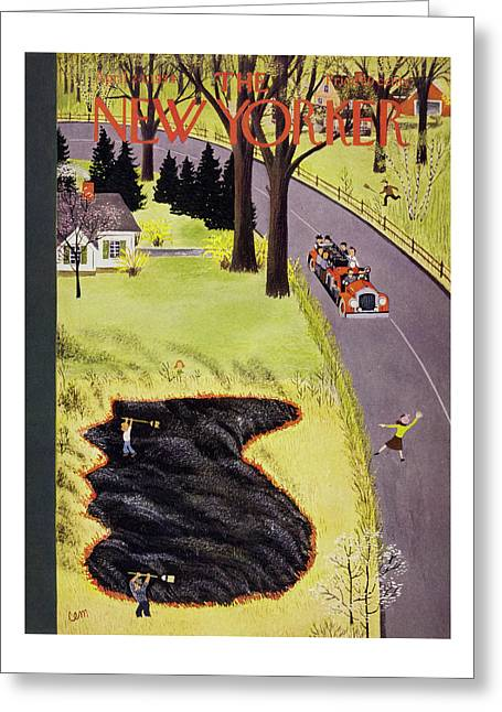 New Yorker April 24 1954 Greeting Card