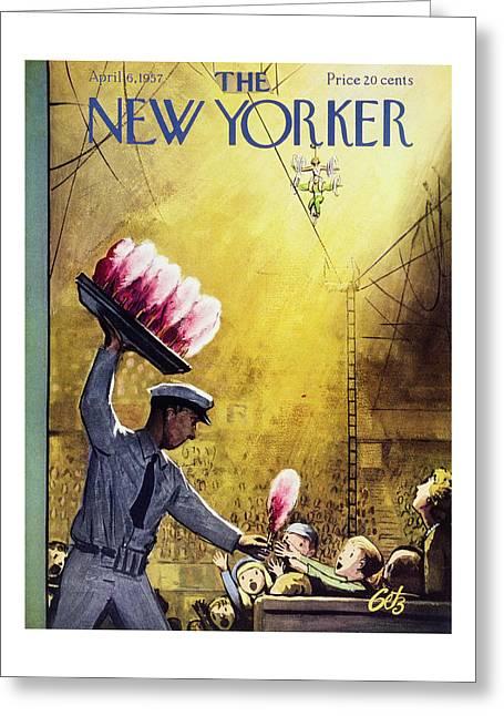 New Yorker April 6 1957 Greeting Card