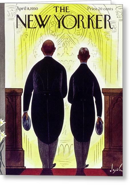 New Yorker April 8 1950 Greeting Card