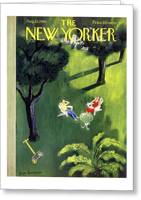 New Yorker August 12 1950 Greeting Card