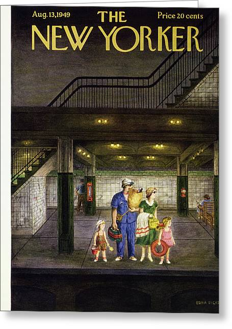 New Yorker August 13 1949 Greeting Card