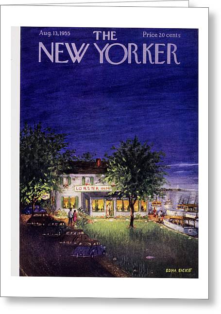 New Yorker August 13 1955 Greeting Card