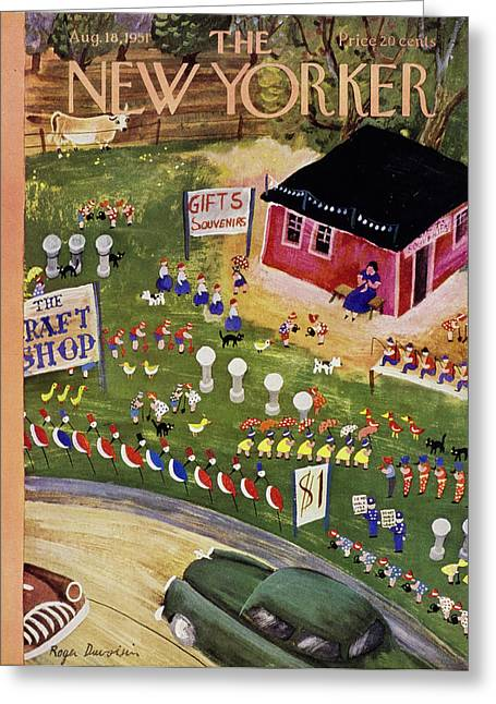 New Yorker August 18 1951 Greeting Card