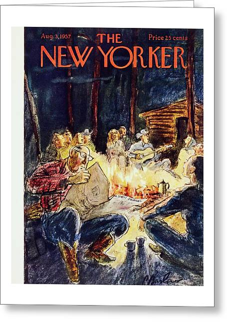 New Yorker August 3 1957 Greeting Card