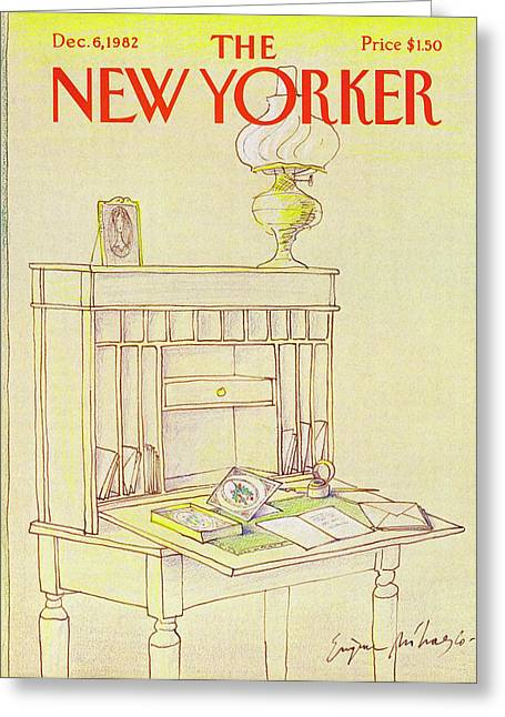 New Yorker Cover December 6th 1982 Greeting Card