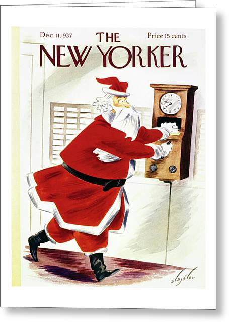 New Yorker December 11 1937 Greeting Card