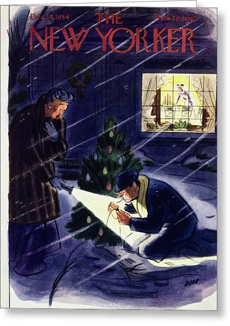 New Yorker December 18 1954 Greeting Card