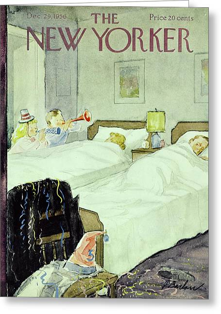 New Yorker December 29 1956painting Greeting Card