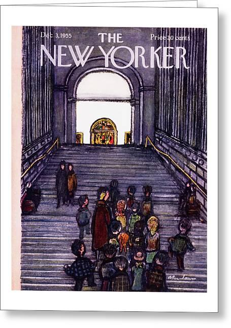 New Yorker December 3 1955 Greeting Card