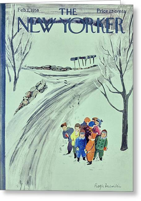 New Yorker February 1 1958 Greeting Card