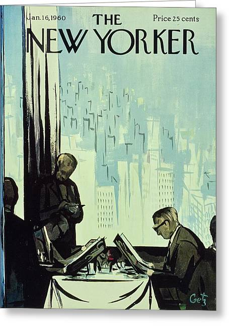 New Yorker January 16 1960 Greeting Card