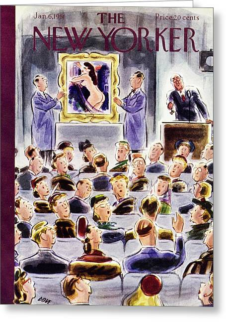 New Yorker January 6 1951 Greeting Card