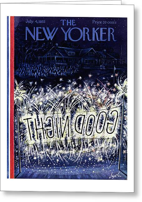 New Yorker July 4 1953 Greeting Card