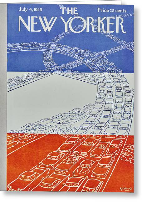 New Yorker July 4 1959 Greeting Card