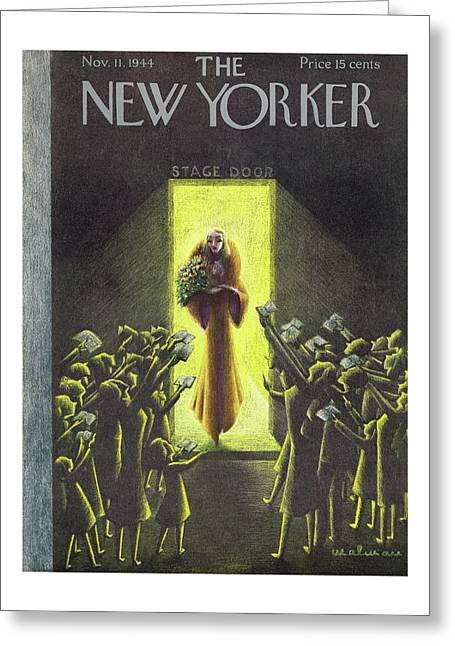 New Yorker Magazine Cover Of An Actress Greeting Card