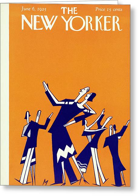 New Yorker Magazine Cover Of Couples Dancing Greeting Card