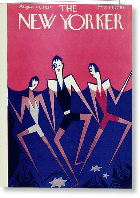 New Yorker Magazine Cover Of People Swimming Greeting Card