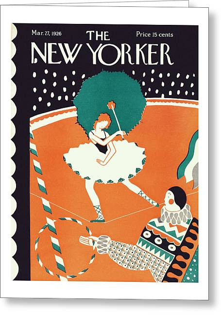 New Yorker March 27th, 1926 Greeting Card