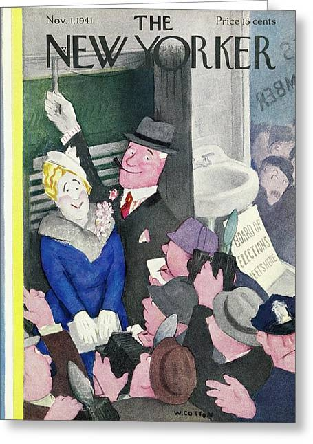 New Yorker November 1 1941 Greeting Card