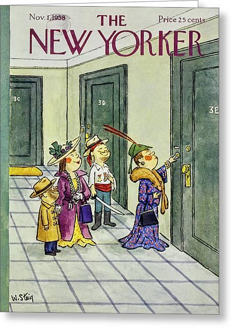 New Yorker November 1 1958 Greeting Card