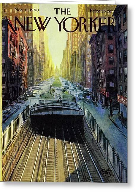 New Yorker November 12 1960 Greeting Card