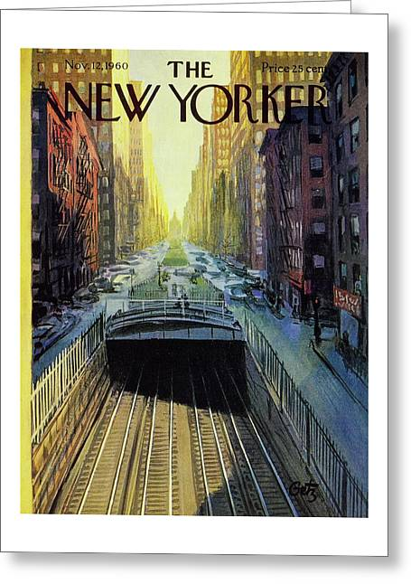 New Yorker November 12 1960 Greeting Card