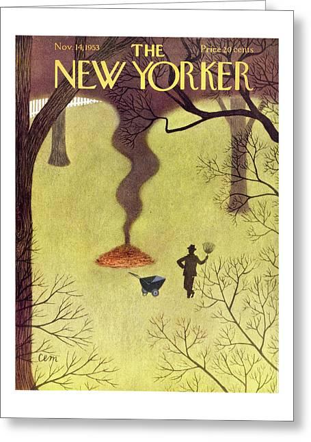 New Yorker November 14 1953 Greeting Card