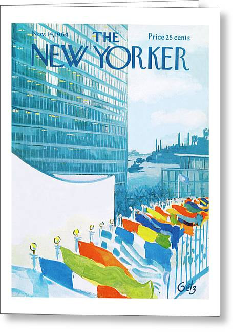 New Yorker November 14th, 1964 Greeting Card