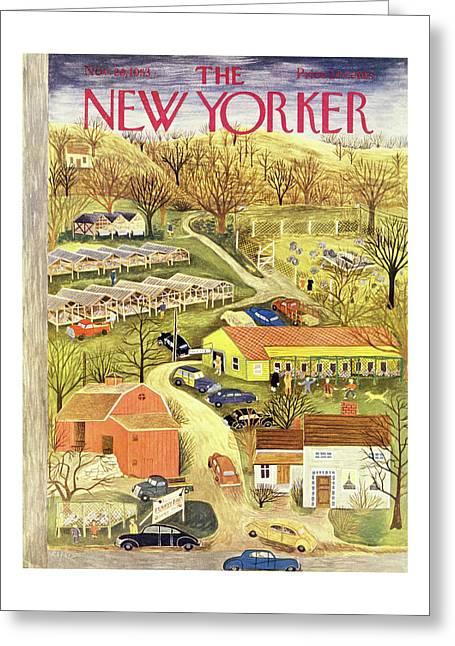 New Yorker November 28 1953 Greeting Card