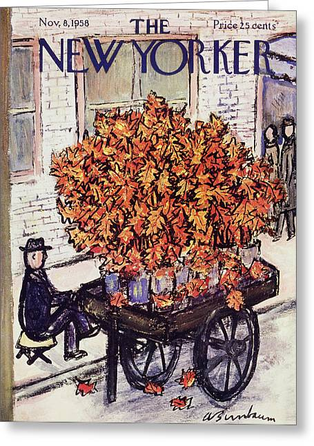 New Yorker November 8 1958 Greeting Card