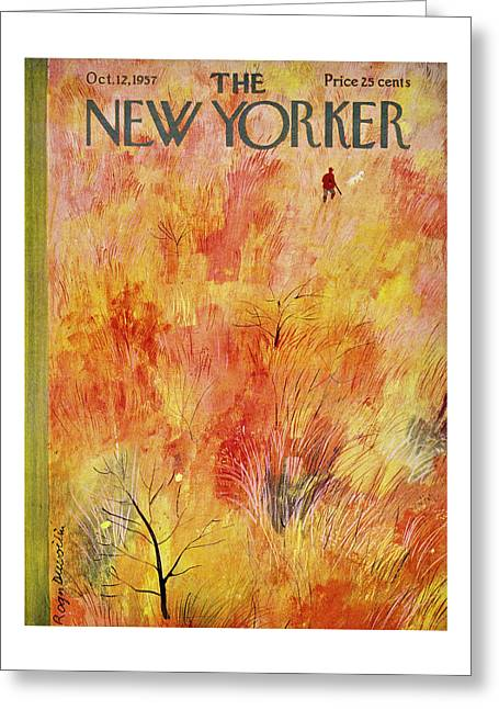 New Yorker October 12th 1957 Greeting Card